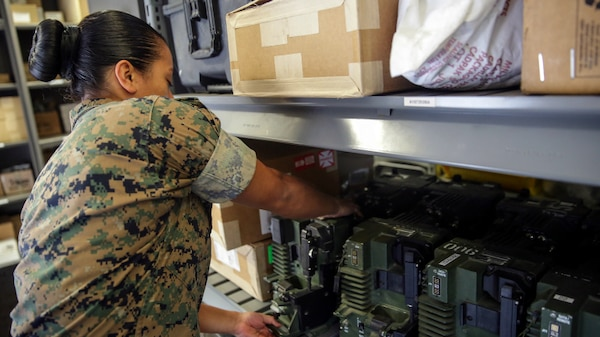 Marine Corps Systems Command Combat Support Systems Equipment Exchange Initiative is exploring new ways to get Marines the equipment they need faster. MCSC initiated the program in 2014 to maximize opportunities to trade-in equipment for more modern replacements at no additional cost to the Corps. (U.S. Marine Corps photo by Cpl. Alexander Mitchell)