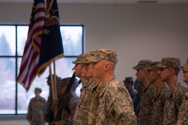 VANCOUVER, Wash. - The 1st Battalion of the 413th Regiment conducted their unit's deactivation ceremony in Vancouver, Washington on Dec. 9, 2016. The ceremony marks the closing of the unit as part of a larger restructuring of the 800th Logistics Support Brigade, headquartered in Mustang, Oklahoma.