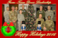Team Dover senior leadership gather for a holiday photo in the command section of the 436th Airlift Wing building Dec. 7, 2016, at Dover Air Force Base, Del. Pictured are from back row left to right: Lt. Col. Chip Hollinger, Air Force Mortuary Affairs Operations deputy commander; Chief Master Sgt. Meshelle Dyer AFMAO chief enlisted manager; Col. Ethan Griffin, 436th AW commander; Col. D. Scott Durham, 512th AW commander; Col. Scott Gaab, 436th AW vice commander; front row left: Army Col. Louis Finelli, Armed Forces Medical Examiner System director; Chief Master Sgt. Sarah Sparks, 436th AW command chief; Army Lt. Col. Kim Chaney, Joint Personnel Effects Depot commander, and Army Sgt. Maj. Cendric Olds, JPED senior enlisted advisor, gather for a holiday photo in the command section of the 436th AW building Dec. 7. 2016, at Dover Air Force Base, Del. (U.S. Air Force photo illustration by Staff Sgt. Jared Duhon)
