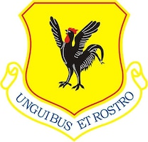 The shield of the 18th Wing at Kadena Air Base, Japan.