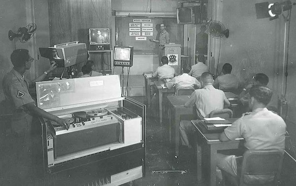 One of MFSS-TV's first tasks was to set up and trained instructors in the use of video trainers systems which allowed for delayed, repeated playback and magnification and were used extensively during train-the-trainer courses for appraisals and self-evaluation of instructors' presentation techniques.