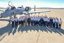 Members from Twelfth Air Force (Air Forces Southern) and nine Latin American Air Chiefs gather together for a group photo during a static aircraft display at Davis-Monthan Air Force Base, Ariz., Dec. 12, 2016.  Nine countries sent representatives to the Latin American Air Chiefs conference to increase cooperation between the US Air Force and our partner nation air forces.  (U.S. Air Force photo by Tech. Sgt. Heather Redman)