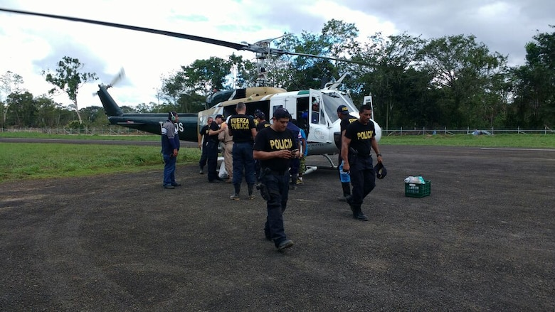 Costa Rican police teamed with Joint Task Force Bravo personnel from Soto Cano Air Base, Honduras to identify damaged areas of Costa Rica in the aftermath of Hurricane Otto that hit Costa Rica Nov. 26. Subject matter experts from JTF-Bravo's Engineers and Civil Affairs assessed rebuilding requirements and humanitarian assistance projects in the wake of the storm.