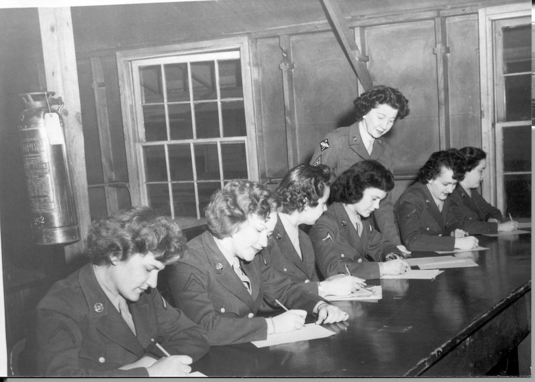Women in the Air Force during Control Tower Training in the 1940s.