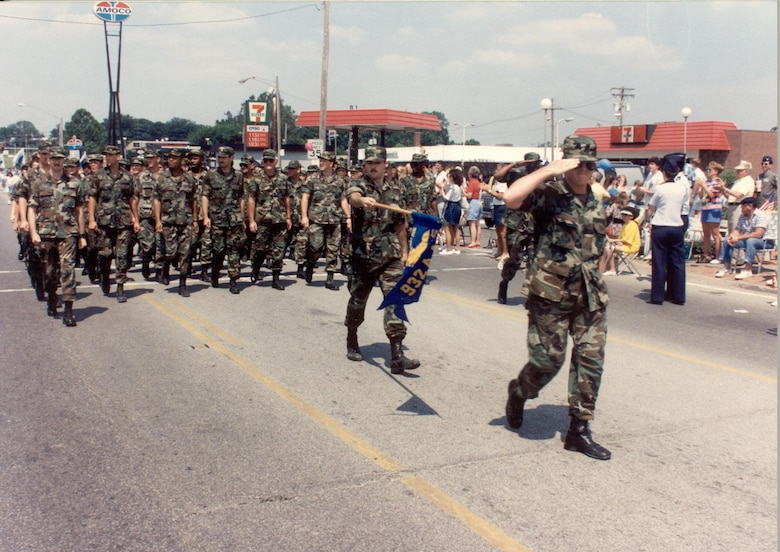 Belleville, Illinois parade for returning Desert Shield and Desert Storm Scott Airmen in 1991