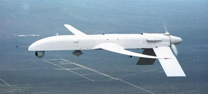 The GNAT 750 was the first long-endurance remotely piloted aircraft. After it was purchased by the United States Air Force, it would evolve into the RQ-1 Predator during the 1990s to fly its first missions over the Balkans during the Kosovo conflict. (Courtesy Photo)