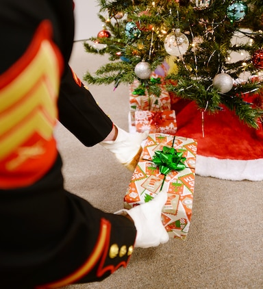 Marines with the Marine Corps Reserve Toys for Tots Program make dreams come true for less-fortunate children on Christmas morning.