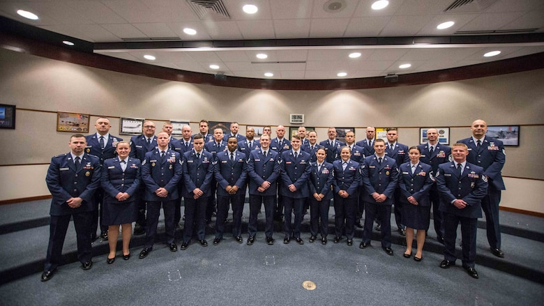 Airmen of the Year nominees pose for a photo at Rosecrans ANG Baes, St. Joseph, Mo., Dec. 3, 2016. (U.S. Air National Guard photo by Staff Sgt. Patrick P. Evenson)