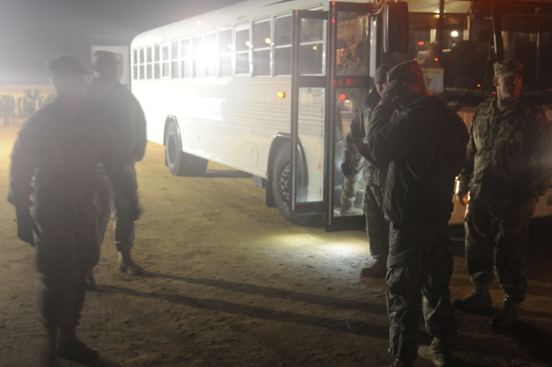 Soldiers assigned to the 970th Transportation Detachment (Movement Control Team) prepare to report the number of personnel and equipment ready for movement, December 14 at Fort Bragg, N.C. at the 2016 Operation Toy Drop XIX. The Soldiers are transportation management coordinators (88N). An 88N coordinates, monitors, controls and supervises the movement of personnel, equipment, and cargo by air, rail, highway and water. Determines the most efficient mode of transport that accomplishes mission requirements. Operation Toy Drop is a USACAPOC(A) annual airborne operation and collective training exercise used to prepare Soldiers to support the Global Combatant Commanders and Army Service Component Commanders in theaters of operation around the world.(U.S. Army Reserve photo by Staff Sgt. George Thurmond II) (Released)