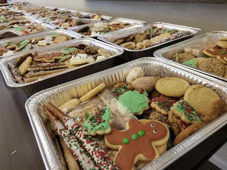 Team Charleston Key Spouses Club hosts the annual holiday program: Operation Cookie Drop at the Hunt Housing Office Dec. 7, 2016. The spouses baked cookies for Joint Base Charleston members working the mid, swing and night shifts.