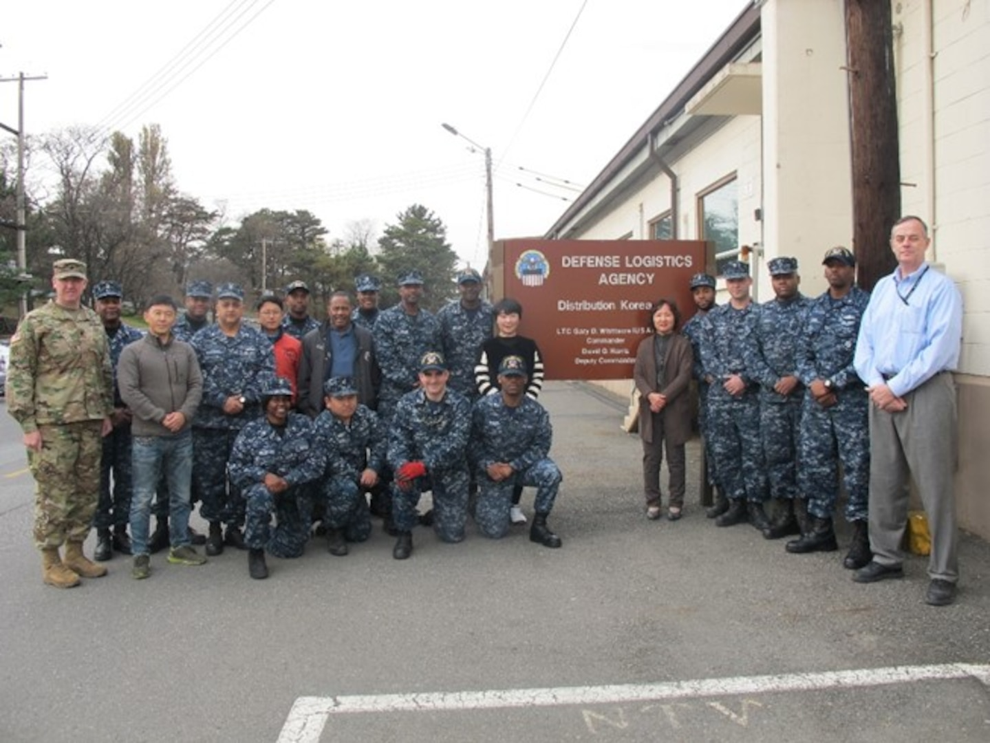 US Navy Reservists joined forces for the first time with United States Army soldiers, civilians and Korean nationals to work together as a team for the Defense Logistics Agency Distribution Korea.
