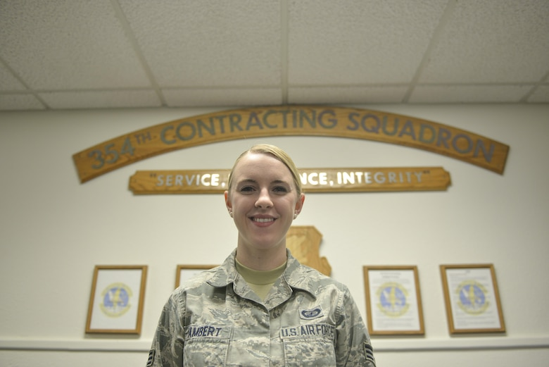 U.S. Air Force Senior Airman Sadie Lambert, a 354th Contracting Squadron contract specialist, takes a brief break for a photo Nov. 22, 2016, at Eielson Air Force Base, Alaska. Lambert said she has taken an interest in photography and enjoys trying to photograph the aurora borealis. (U.S. Air Force photo by Airman Isaac Johnson)