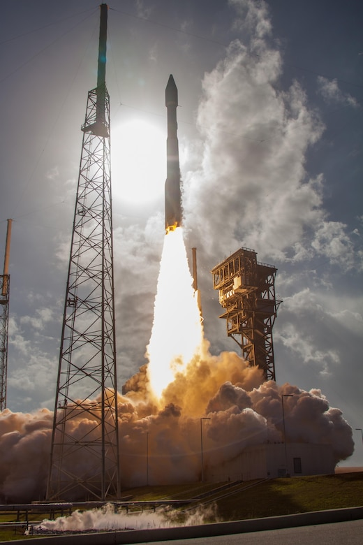 The U.S. Air Force's 45th Space Wing supported United Launch Alliance's successful launch of the EchoStar XIX spacecraft aboard an Atlas V rocket from Launch Complex 41 here Dec. 18 at 2:13 p.m. ET. (Courtesy photo by ULA).