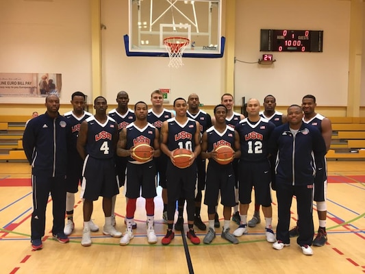 The U.S. Armed Forces Men's Basketball team defeated Lithuania in overtime 87-86 to win the 2016 SHAPE International Basketball Championship Dec. 3.