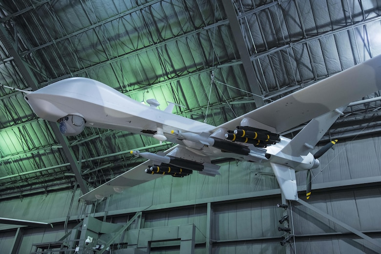 DAYTON, Ohio -- General Atomics YMQ-9 Reaper at the National Museum of the U.S. Air Force. (U.S. Air Force photo by Ken LaRock)