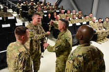 The U.S. Army Corps of Engineers - Transatlantic Afghanistan District (TAA) welcomed a new top NCO, Command Sgt. Maj. Chad Blansett, during a change of responsibility ceremony Friday, Dec. 9, on Bagram Airfield, Afghanistan.