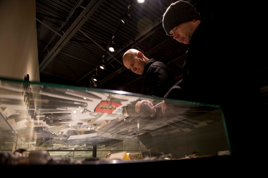 U.S. Air Force Airmen from Cannon Air Force Base, N.M.  look at exhibits during a tour of the Silent Wings Glider Museum in Dec. 8, 2016 in Lubbock, Texas. Members of the 27th Special Operations Wing visited the museum as part of an off-site professional development tour. (U.S. Air Force photo by Tech. Sgt. Manuel J. Martinez/released)