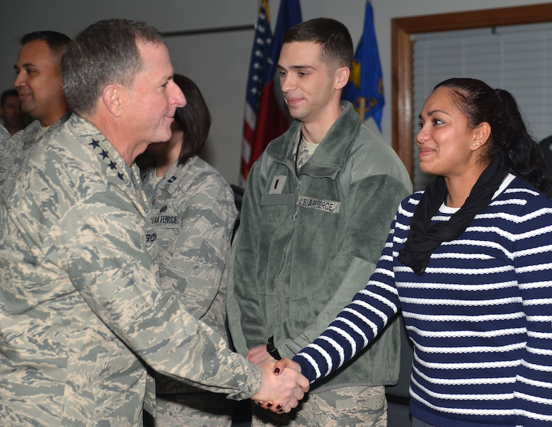 Air Force Chief of Staff Gen. David L. Goldfein met with Airmen and leaders at the 625th Operations Center, 25th Air Force Headquarters, San Antonio, Texas, Dec. 19.