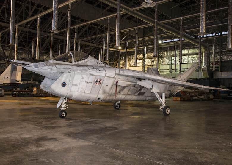 DAYTON, Ohio -- The Boeing X-32A in a storage building at the National Museum of the U.S. Air Force on Nov. 20, 2016. (U.S. Air Force photo by Ken LaRock)