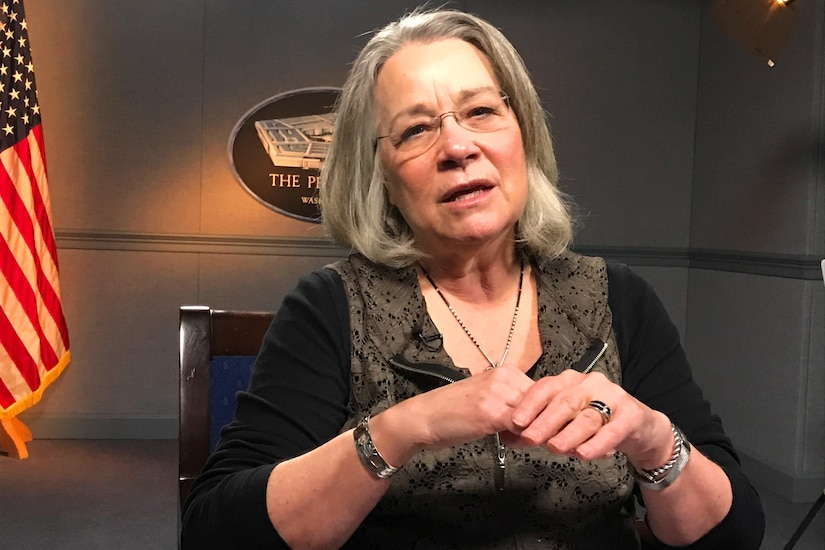 Dr. Karen S. Guice, acting assistant secretary of defense for health affairs, reflects on her tenure at the Pentagon during an interview with DoD News, Dec. 22, 2016. DoD photo by Amaani Lyle