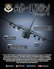 Graphic depicting AC-130W stats and facts