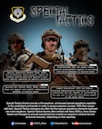 Graphic depicting stats and facts about the Special Tactics career fields