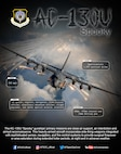 Graphic depicting AC-130U stats and facts