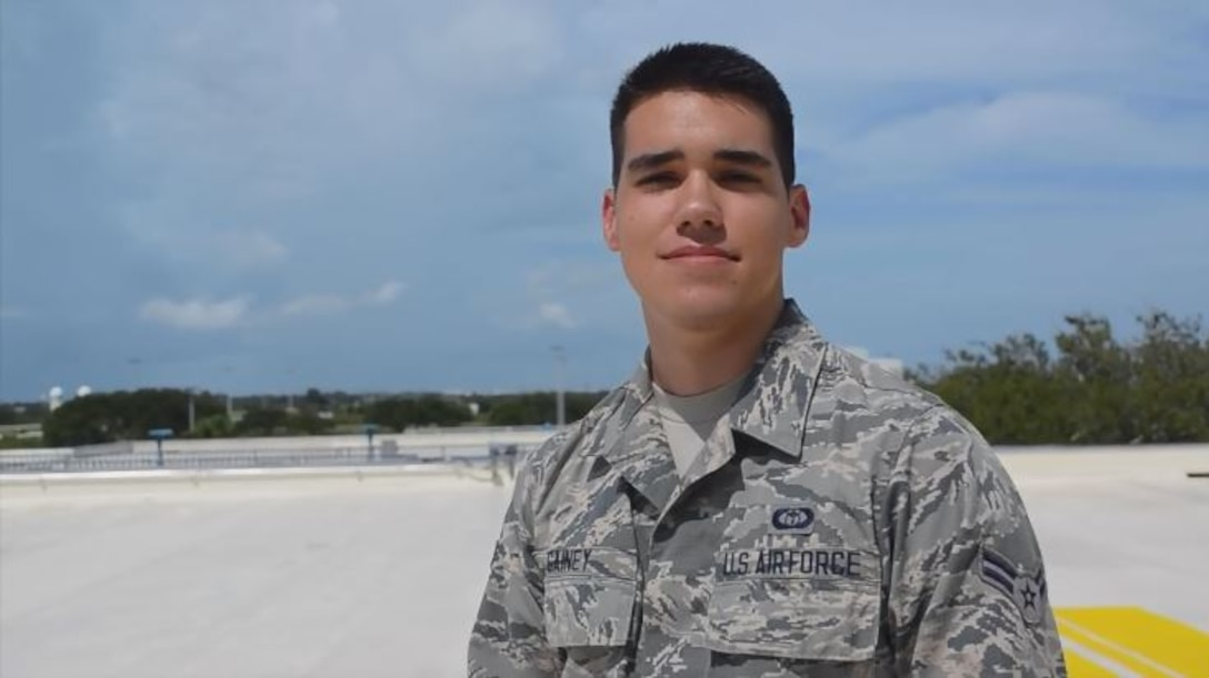 Airman 1st Class Brandon Gainey explains why he is an Epic Airman. (Courtesy photo)