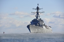 BATH, Maine - The future USS Rafael Peralta (DDG 115) successfully completed acceptance trials Dec. 16 after spending two days underway off the coast of Maine.
