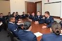 The jury discusses the evidence to reach a verdict during the mock trial at F.E. Warren Air Force Base, Wyo., Dec. 16, 2016.  The first term Airmen were asked to assess the evidence and testimonies and come to a unanimous decision. The legal office recently initiated this program for first term Airmen to demonstrate the consequences of sexual assault from various perspectives. (U.S. Air Force photo by Airman 1st Class Breanna Carter)