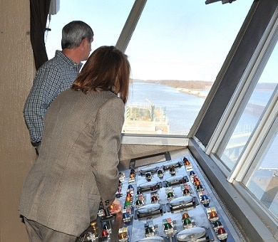 Hon. Jo-Ellen Darcy, Assistant Secretary of the Army for Civil Works, and Kate Brandt,Federal Environmental Executive, White House Council of Environmental Quality, , visit Mobile District's Stennis Lock and Dam on the Tennessee-Tombigbee Waterway in Mississippi to learn about its energy and sustainability efforts with the U.S. Army Engineering and Support Center, Huntsville.