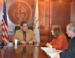 WINDOW ROCK, AZ – Assistant Secretary of the Army for Civil Works Jo-Ellen Darcy meets with Navajo Nation President Russell Begaye, Jan. 27, 2016.