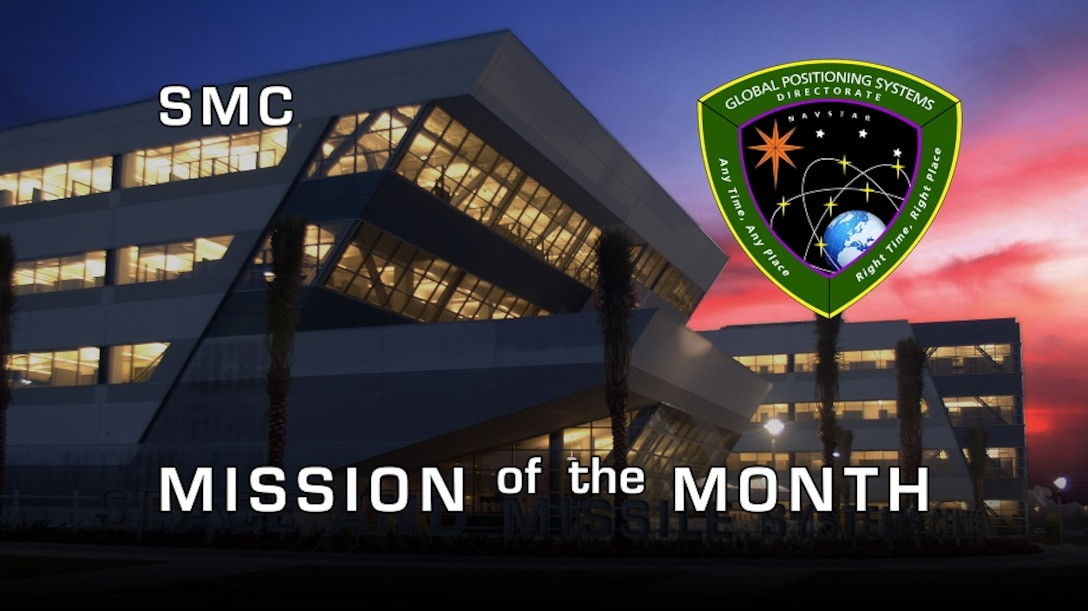 SMC Mission of the Month' banner, featuring the Global Positioning System Directorate (SMC/GP)