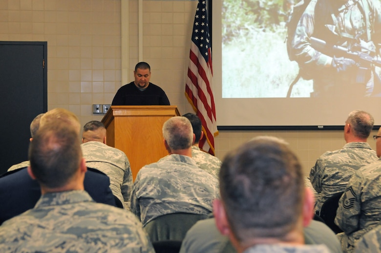 Retired Marine Cpl. Kenneth Toone shares his