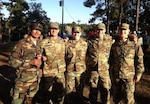 From left, 1st Lt. Mohammad Yarghal smiles with then-2nd Lts. Carson Giammaria, George Levy, Patrick Diehl and Matt Pennings following graduation from Ranger School. Yarghal is only the fourth member of the Afghan National Defense and Security Forces to earn the Ranger tab.