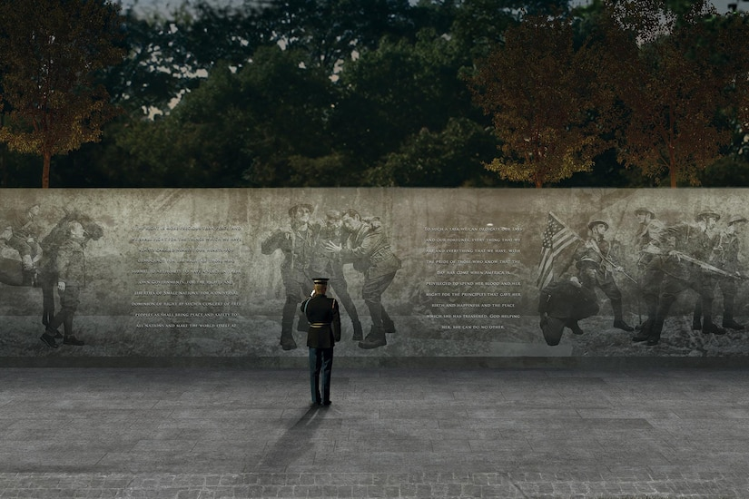 """A panel from the design concept of """"The Weight of Sacrifice,"""" by Joseph Weishaar and Sabin Howard, the team chosen by the National World War One Centennial Commission to design a national memorial for what was known at the time as """"The Great War."""" Courtesy image"""