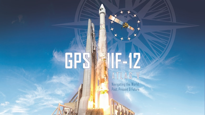 Atlas V GPS IIF-12 mission art. The GPS 2F-12 satellite is scheduled to ride into space aboard an Atlas V 401 launch vehicle from Space Launch Complex 41 at Cape Canaveral Air Force Station, Florida Feb. 5 during a 19-minute launch window between 8:38 to 8:57 a.m. EST (Courtesy graphic/United Launch Alliance)
