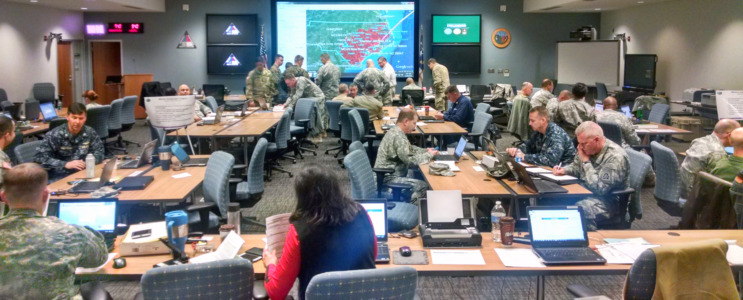 Army North Personnel Train For Hurricane Response In North Carolina