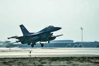 An F-16 Fighting Falcon aircraft takes off for a combat sortie from Bagram Airfield, Afghanistan, Feb. 1, 2016. Air Force photo by Tech. Sgt. Nicholas Rau