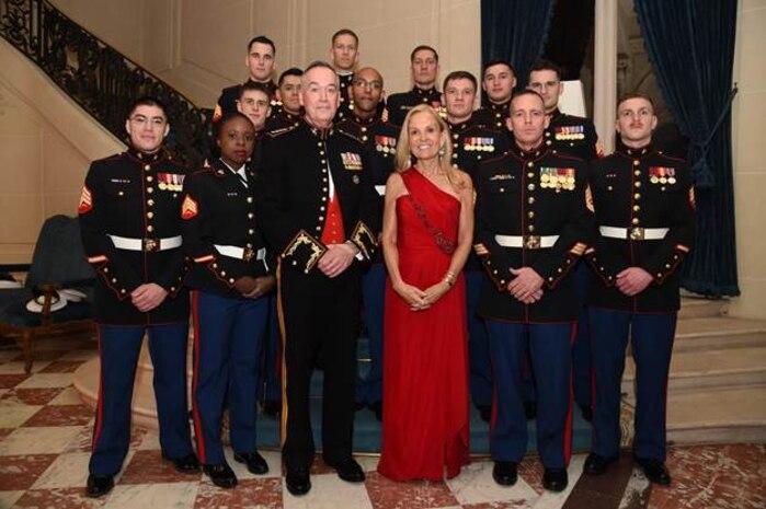 General Dunford and Ambassador Jane Hartley, the U.S. Ambassador to the French Republic, visits Detachment Paris
