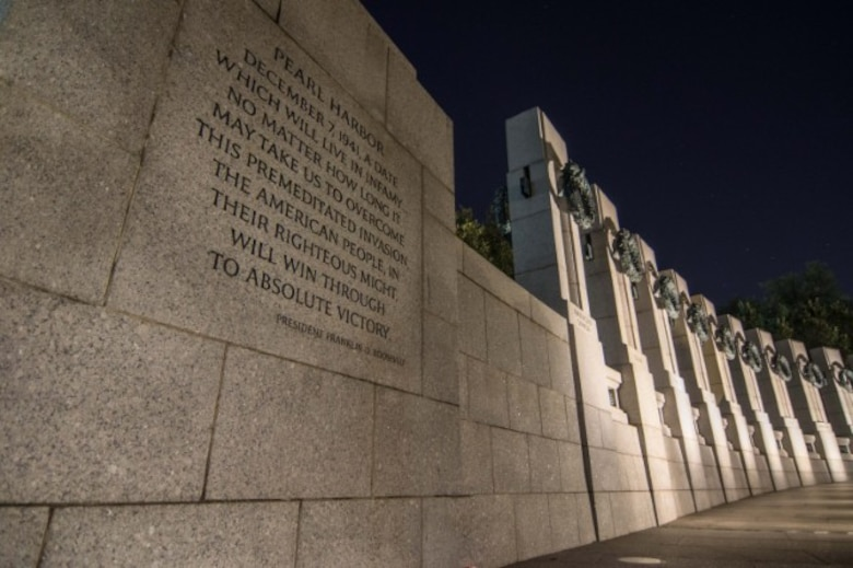 World War II Memorial in Washington, D.C. (Coutersy Photo/Tech. Sgt. Jeffrey Mikell)