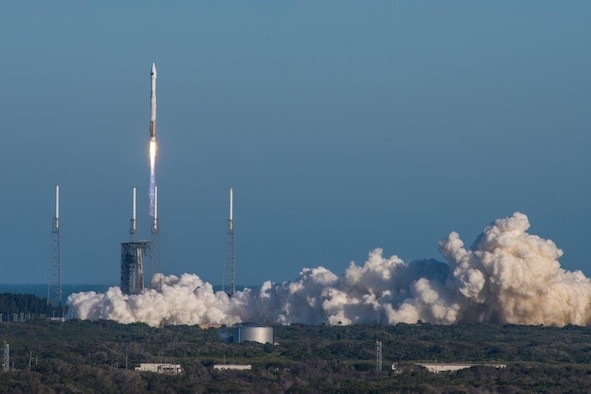 Cape Canaveral Air Force Station, Fla. (Feb. 5, 2016) – A United Launch Alliance (ULA) Atlas V rocket carrying the GPS IIF-12  mission lifted off from Space Launch Complex 41 at 8:38 a.m. EST / 5:38 a.m. PST (Courtesy photo: ULA)
