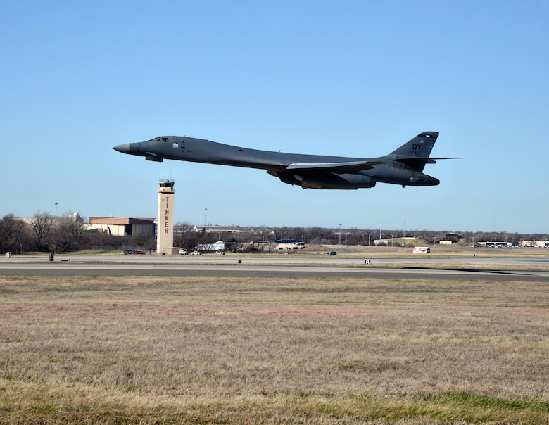 The beast has been completely unleashed. The 15th and final B-1 to receive the Integrated Battle Station modifications, the largest modifications in B-1 history, left Tinker on Dec. 15. (Air Force photo by Kelly White/Released)