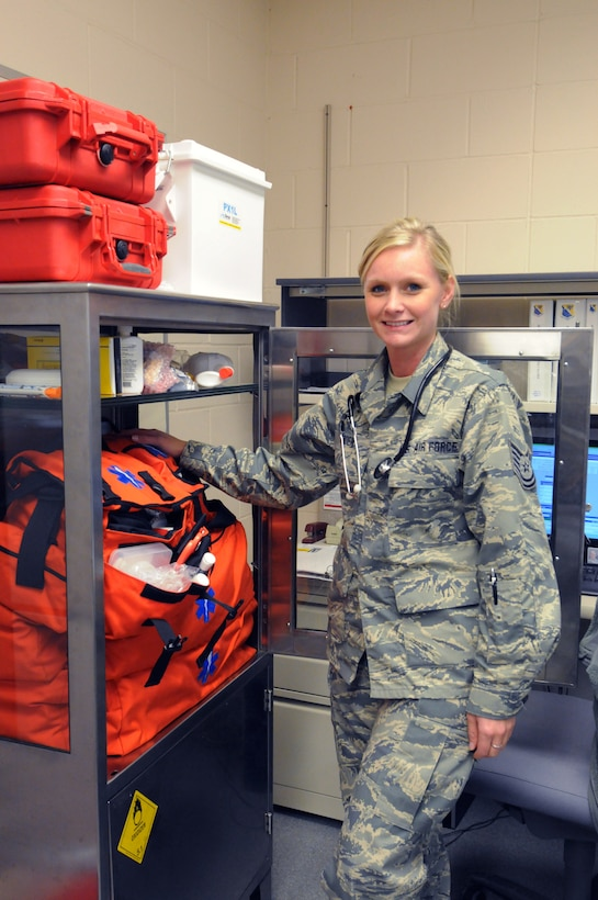 Tech. Sgt. Amanda Roen, 148th Fighter Wing, Duluth, Minn. poses for a photo, Nov. 15, 2015.  Roen is currently a registered nurse with Essentia Health and plans to attend further schooling to become a nurse practitioner.  (U.S. Air National Guard photo by Tech. Sgt. Amie Muller)