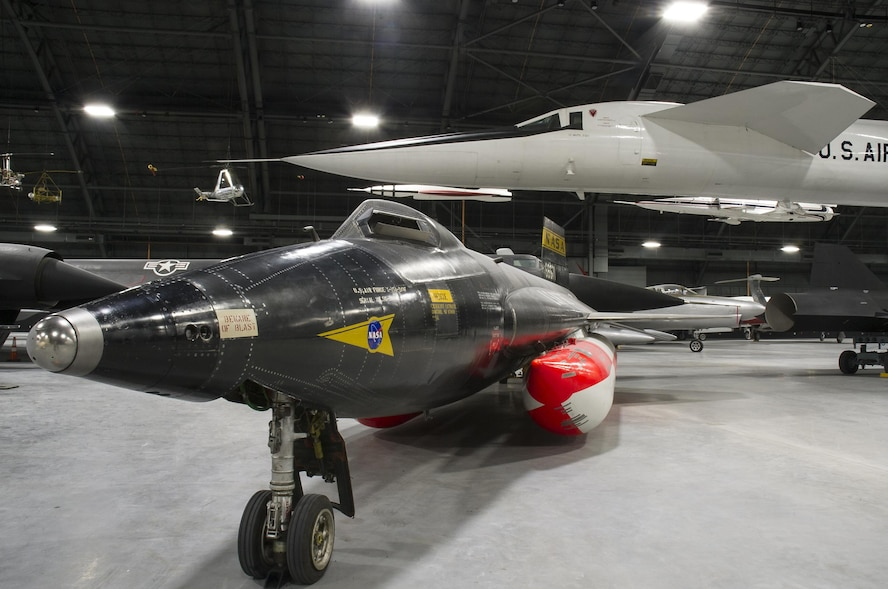 The North American X-15A-2 and the North American XB-70A Valkyrie in the museum's fourth building on Feb. 09, 2016. The new building at the National Museum of the U.S. Air Force will house the Research & Development, Space, Presidential and Global Reach Galleries which open June 8th, 2016.  (U.S. Air Force photo by Ken LaRock)