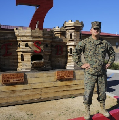 Sgt. Michel Garcia, a heavy equipment mechanic with 7th Engineer Support Battalion, has been a Marine for more than eight years. Garcia, a native of Newport News, Va., has aspirations of becoming a drill instructor and someday shaping new Marines.