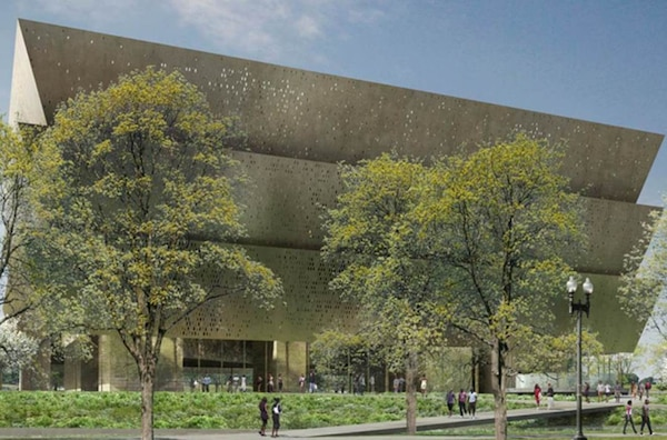Artist rendering of the National Museum of African American History and Culture.