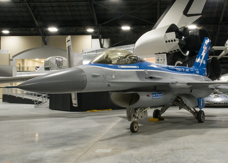 General Dynamics NF-16A AFTI in the Research & Development Gallery at the National Museum of the U.S. Air Force. (U.S. Air Force photo)