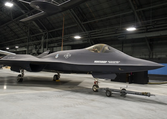 Northrop-McDonnell Douglas YF-23A in the Research & Development Gallery at the National Museum of the U.S. Air Force. (U.S. Air Force photo)