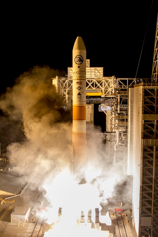 A United Launch Alliance Delta IV Medium+ (5,2) rocket successfully delivered a satellite, designated NROL-45, to orbit for the National Reconnaissance Office after lifting off at 3:40 a.m. PST Feb. 10, 2016 from Space Launch Complex-6 at Vandenberg Air Force Base, located on California's Central Coast. (Courtesy photo: ULA)